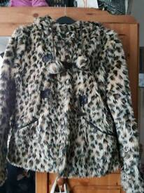 New look leopard print jacket size 10