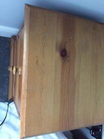 Pine bedside draw unit