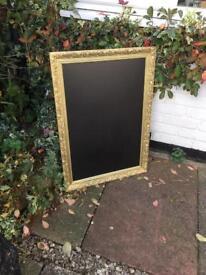 Gold ornate chalkboard, wedding chalkboard seat table plan