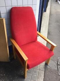 Hi back armchair