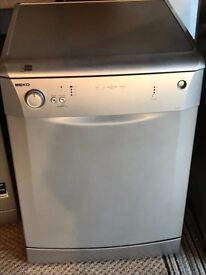 98 Beko DL1243S 60cm Wide LCD Silver 4 Program Dishwasher 1 YEAR GUARANTEE FREE DEL N FIT