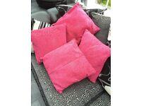 cerise pink cushions