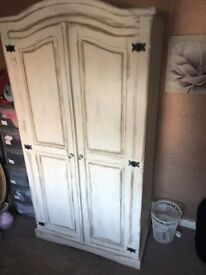 Lovely Shabby Chic double wardrobe for sale