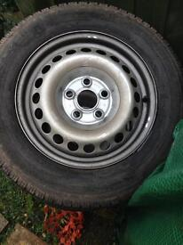 "VW T5 16"" steel wheels and tyres"