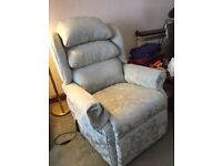 HSL Armchair rising/reclining dual motor wedgwood fabric. Very good condition cost £1400 sell £550.