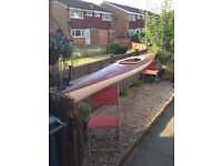 kayak canoe boat cheap bargain brown quite light SOLD