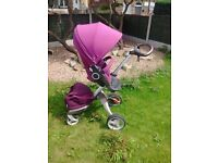 Stokke pram with cosy toes and newborn insert