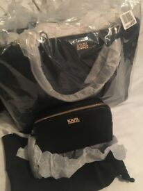 Brand new Karl Longford bag with wash bag brand new