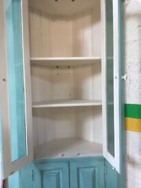 Large Shabby chic painted, distressed and waxed corner unit.