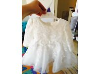 Christening occasion baby dress 3-6 months