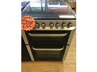 SERVIS 60CM BRAND NEW CEROMIC TOP ELECTRIC COOKER IN SILIVER