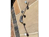 Three Ceiling Light Fittings, In Good Working Order- Pre-owned.
