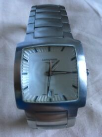 Longines Opposition watch with case and box and strap etc. - water damaged - for spares or repair