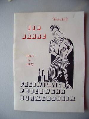 90 Jahre Freiwillige Feuerwehr Durmersheim 1957 Festsch