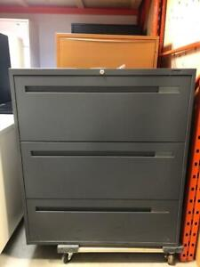 Global 3 Drawer Lateral File - Charcoal -  $250