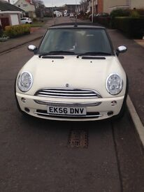 Mini one 1.6 petrol white