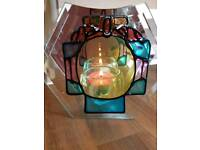 Mirrored tea light candle