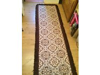 Vintage wool rug, reversible and perfect for hallways