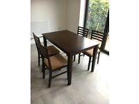 Dining Table and matching chairs, excellent condition