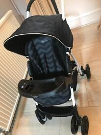 Graco pushchair with car seat and rain cover