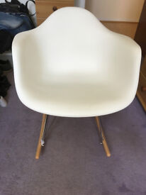 White Rocking Chair in the style of Charles Eames (Very Good Used Condition)