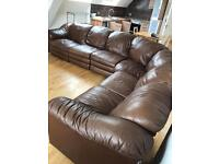 NOW SOLD. - 6 seater corner sofa with reclining section