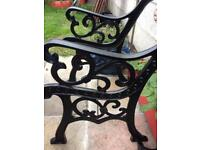 Cast iron end chair or bench