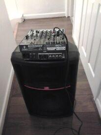 DJ DISCO SYSTEM RAPTOR LIGHT BUS MIXER SPEAKER FULL SYSTEM