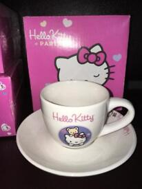 Hello kitty cups and saucers £3
