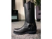 Grinders Renegade Biker Cowboy Boots Men's Women's Size 5