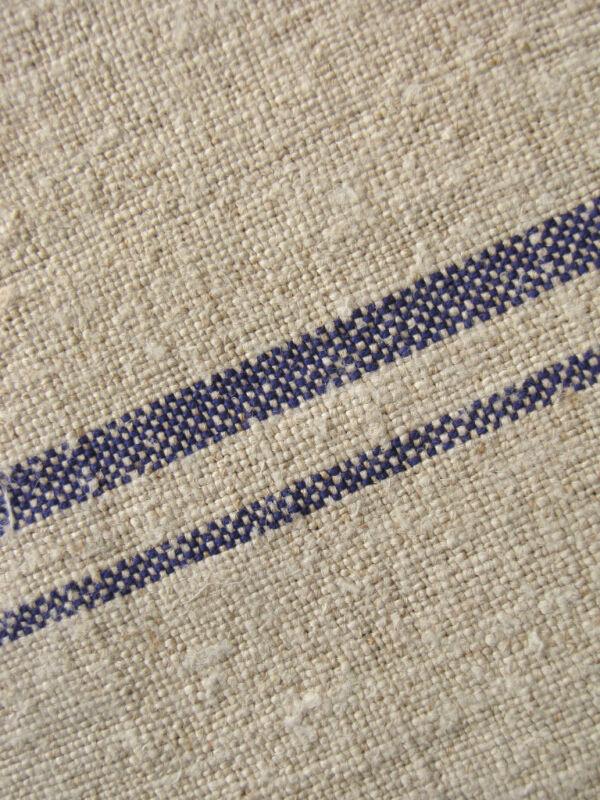 Bolt of Fabric Homespun European linen RARE purple striped upholstery 4.2 YARDS