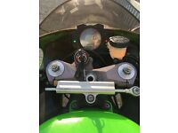 Kawasaki ninja ZX-10R, green sports bike