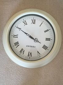 Large country style cream clock