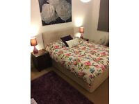 Divan bed base and headboard for sale