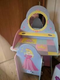 Disney Princess dressing table and stool