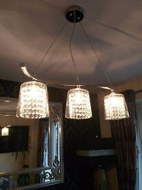 Crystal light fitting