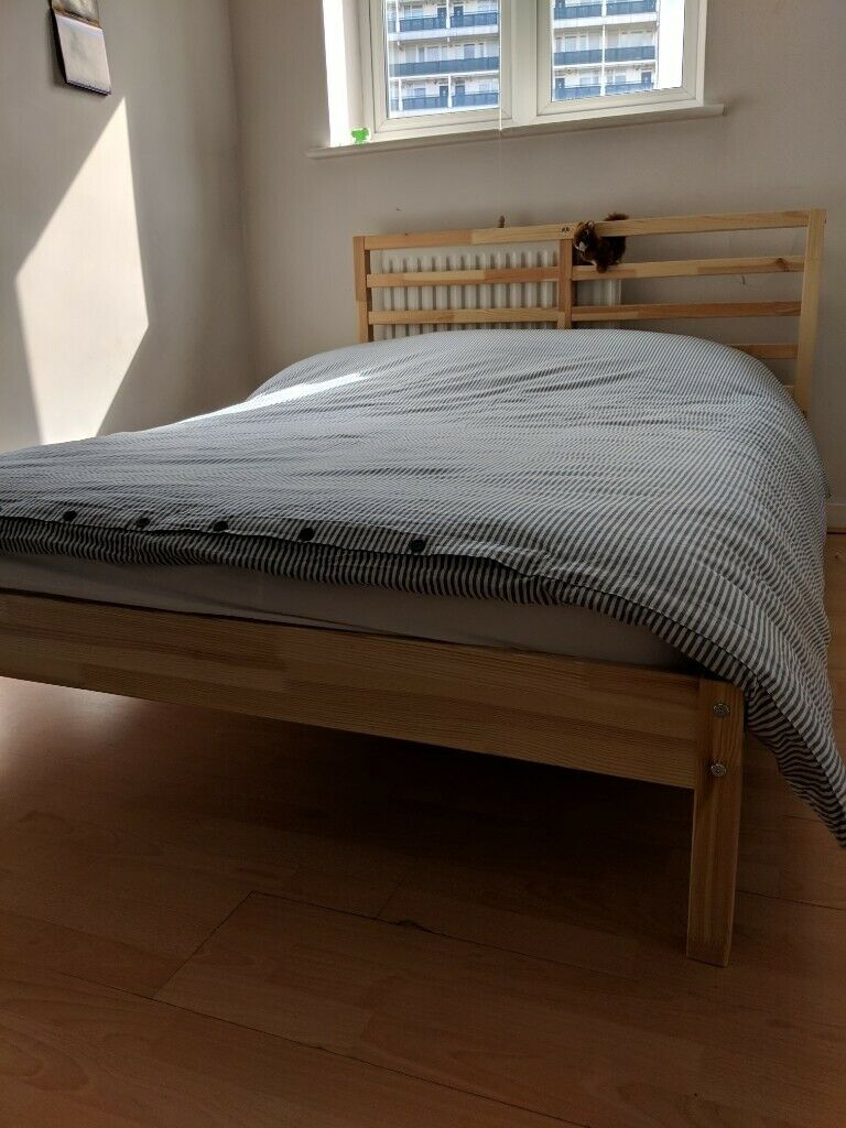 Ikea Tarva Bed Frame Standard Double With Slats All In Near New Condition In Hackney London Gumtree