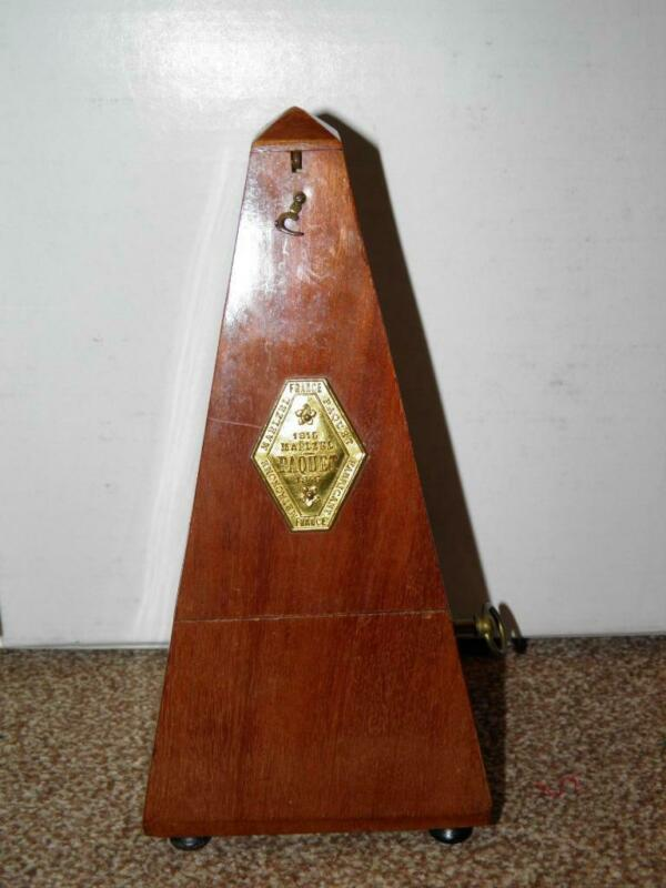 """Antique Wooden Metronome- """"France Maelzel Paquet 1846"""" (In Working Order)"""