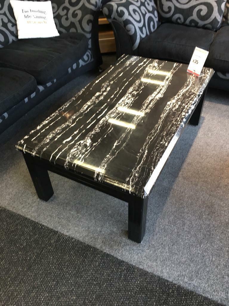 Bhf N44 4716 Black Ash Marble Effect Coffee Table In Newcastle Tyne And Wear Gumtree