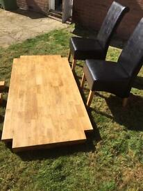 Oak table rrp £800 from IKEA. 6 chairs not in photos