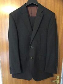 TM Lewin Men's Merino Charcoal Grey Suit