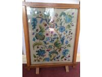 Pretty tapestry fire screen