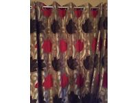 Curtains - 4 pairs fully lined eyelet hole heavy curtains in great condition