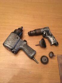 Air gun and drill