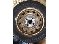 Tyre on wheel brand new