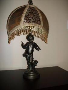 SUPERBE LAMPE SUR TABLE EN BRONZE