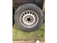 VW Crafter/Merc Sprinter steel wheels with tyres