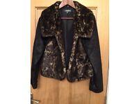 Peruna short fur jacket