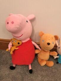 Peppa pig soft teddy's