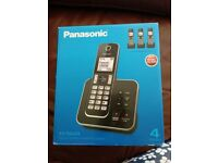 Panasonic digital cordless phone and answer machine - hardly used - in box